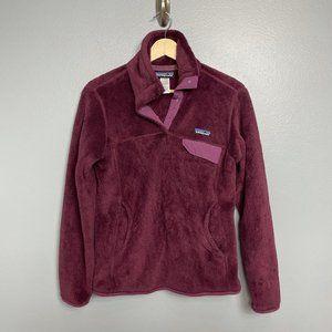 PATAGONIA Burgundy Re-Tool Snap-T Fleece Pullover
